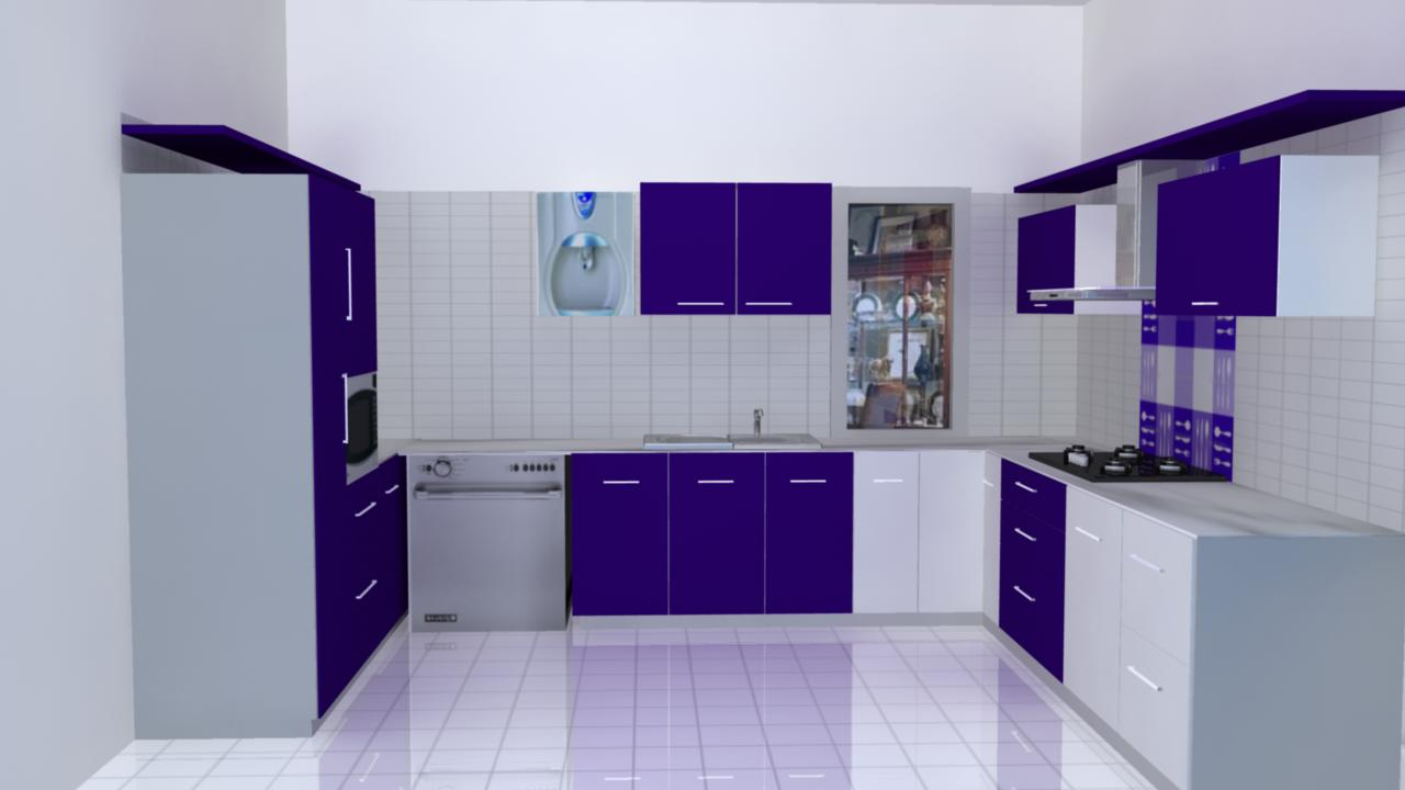 Modular Kitchen Pathankot on Plants Floor Plan Design