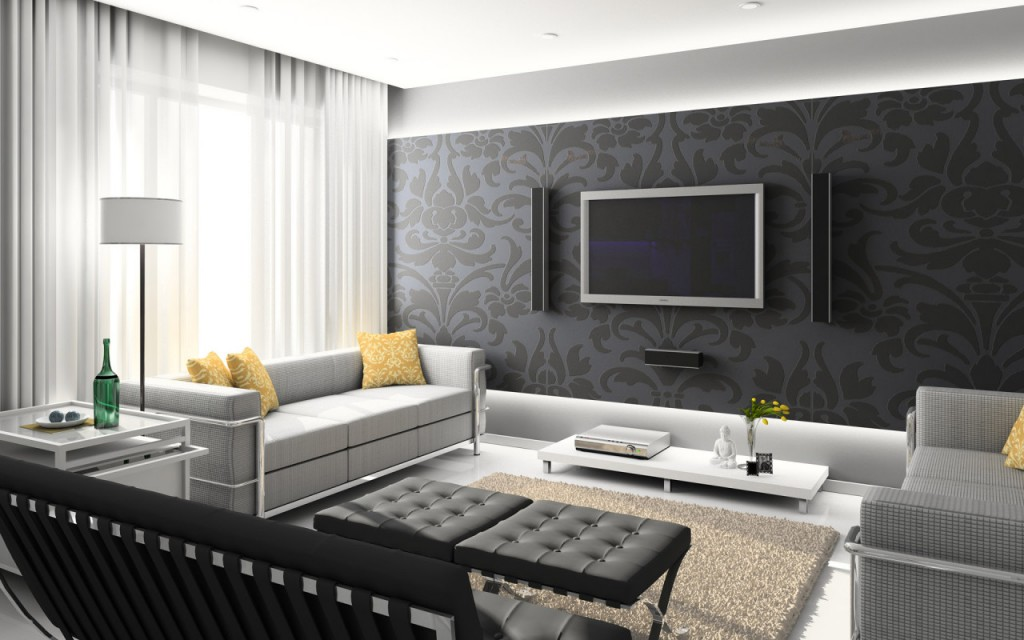 Wallpaper home interior interior exterior for Wallpaper on walls home decor furnishings
